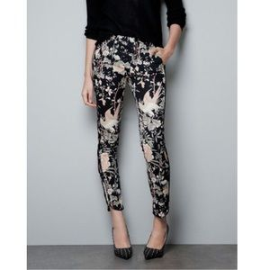 Zara | Oriental Print Floral Bird Trousers 2